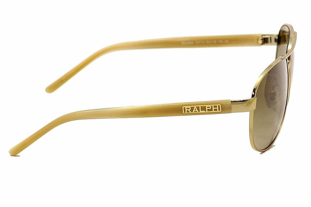 15d65ae8930 Ralph Lauren 4004 RA4004 101 13 Gold Cream Pilot Sunglasses 59mm by Ralph  Lauren