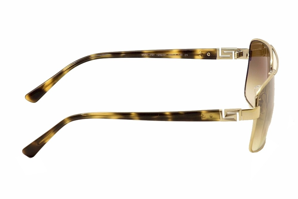 4e3387c04d8aa Versace Men s VE2141 VE 2141 Fashion Pilot Sunglasses by Versace