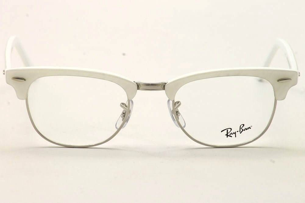 My Glasses Frames Are Turning White : Ray-Ban Eyeglasses Clubmaster RB/5154 2374 White RayBan ...