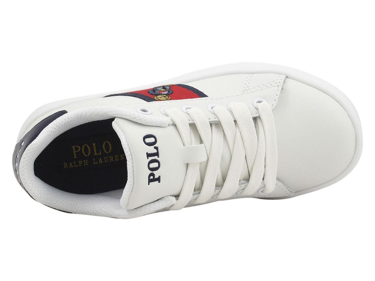 749b25797 Polo Ralph Lauren Little Big Boy s Quilton Bear Sneakers Shoes by Polo Ralph  Lauren