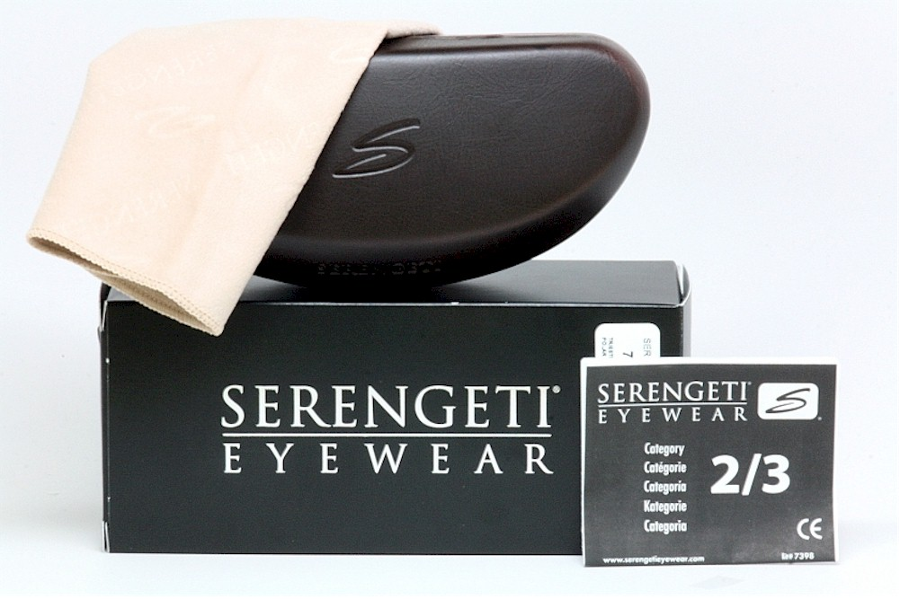 b1bd26539a65 Serengeti Medium Pilot 8265 Shiny Dark Gun/Mirror Blue Polarized Sunglasses  by Serengeti. Touch to zoom. 1234567