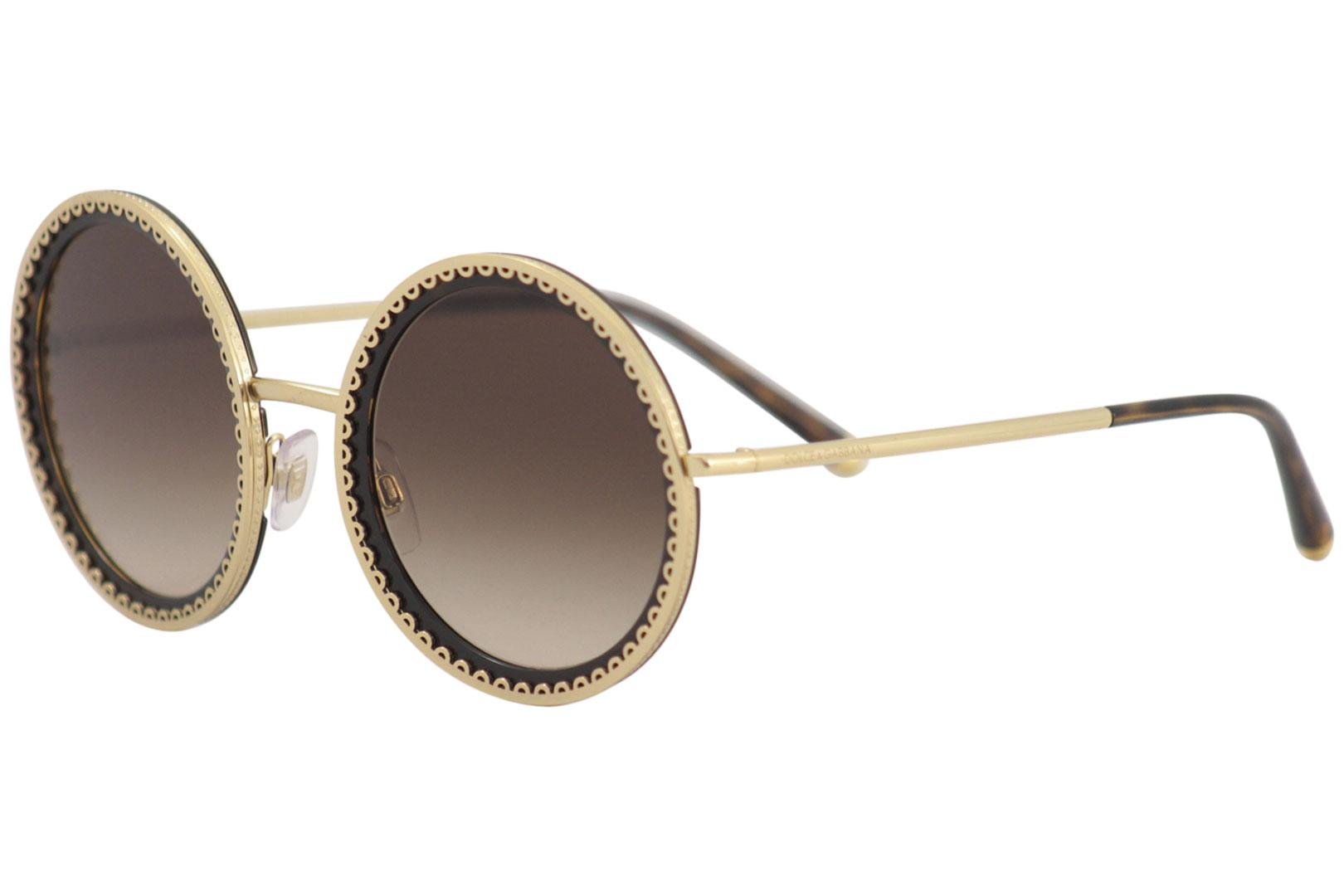 75a34a824019 Dolce   Gabbana Women s D G DG2211 DG 2211 Fashion Round Sunglasses