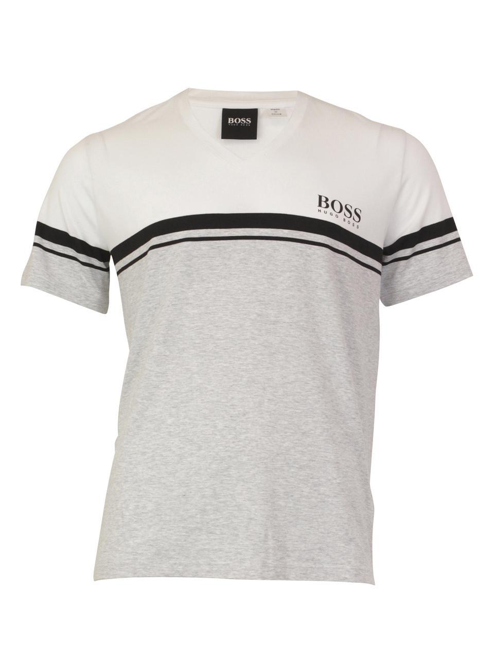 a9e9b75b8 Hugo Boss Men's Bamboo-T-Shirt-VN Short Sleeve V-Neck T-Shirt