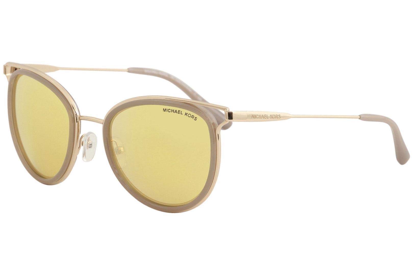 a02b8ba3c4 Michael Kors Women s Havana MK1025 MK 1025 Fashion Round Sunglasses