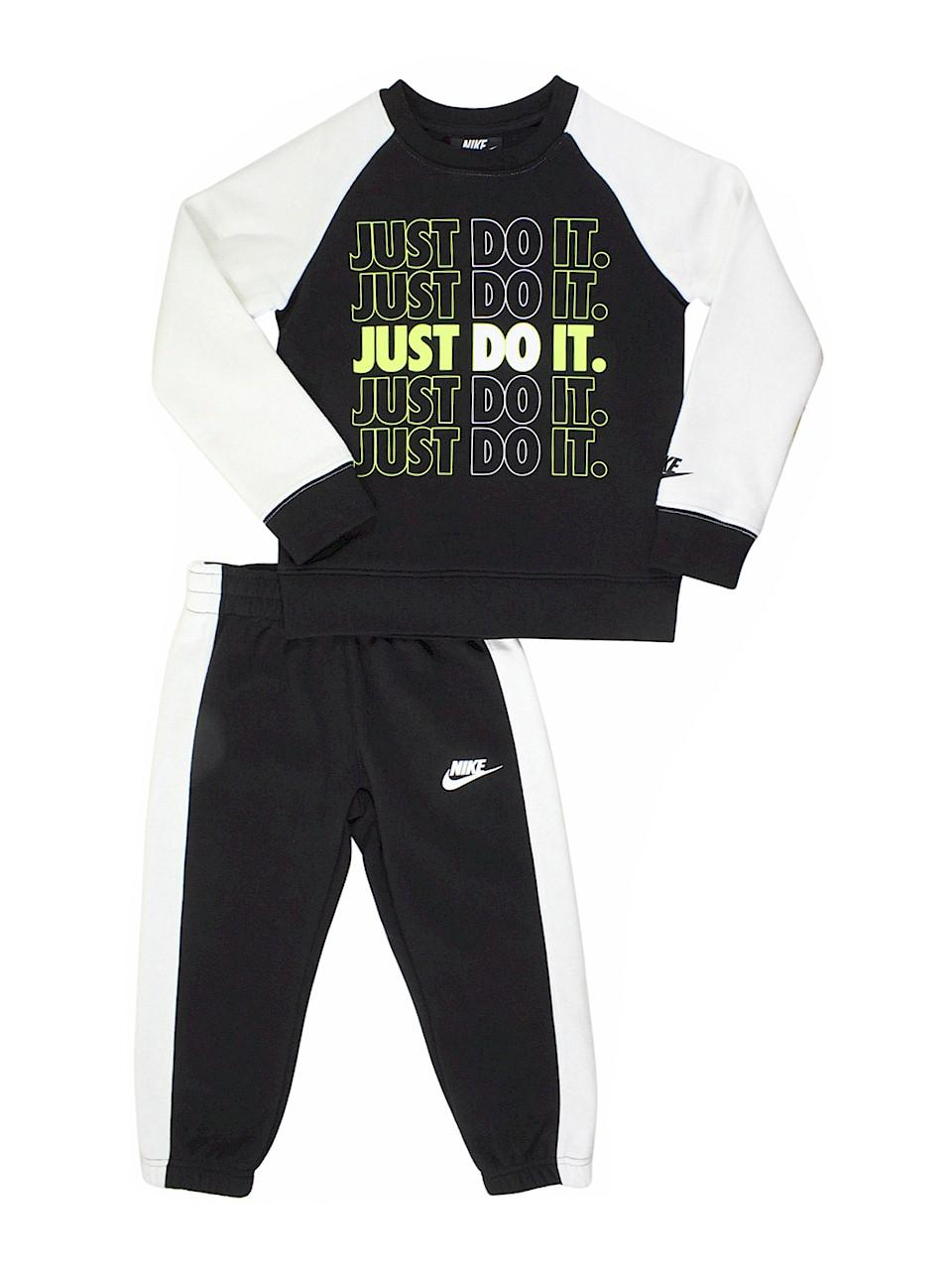 Nike Little Boys 2-Piece Outfit Set Gray