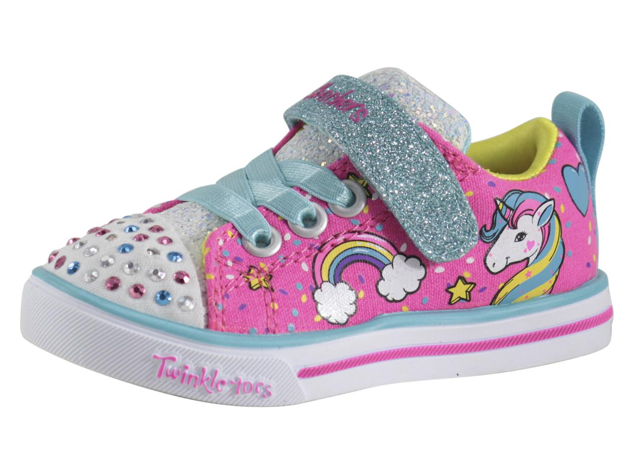Skechers ToddlerLittle Girl's S Lights Unicorn Craze Light Up Sneakers Shoes