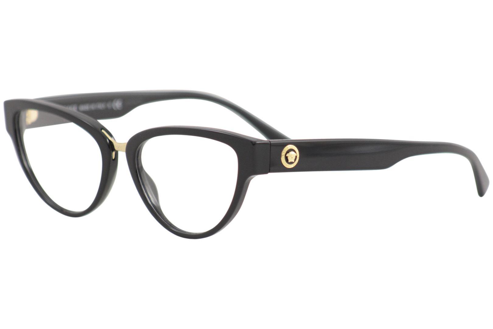 Black VE3267-GB1-51 Versace VE3267 Eyeglass Frames GB1-51