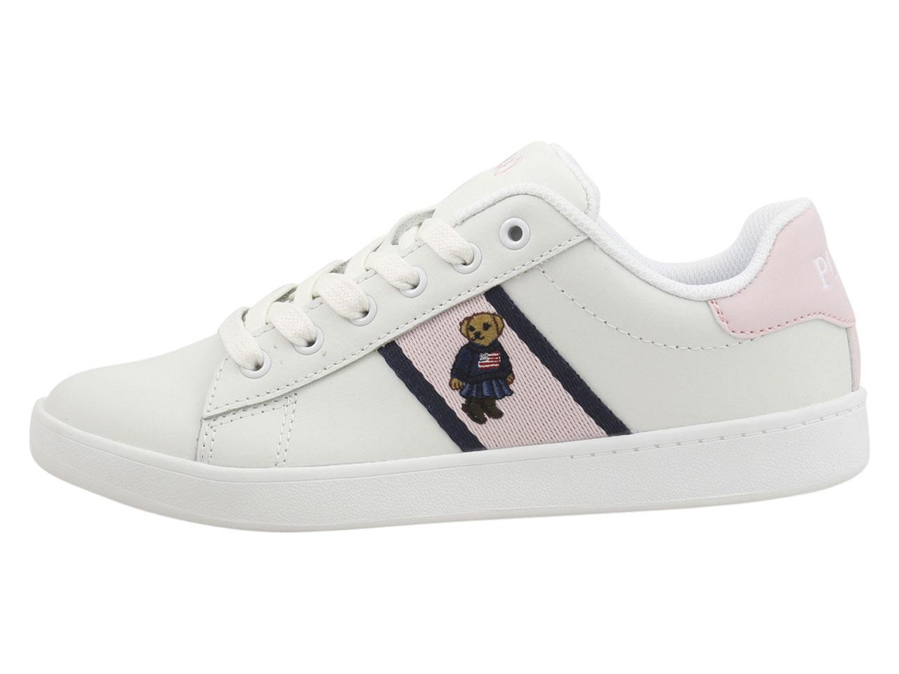 quilton bear leather sneaker
