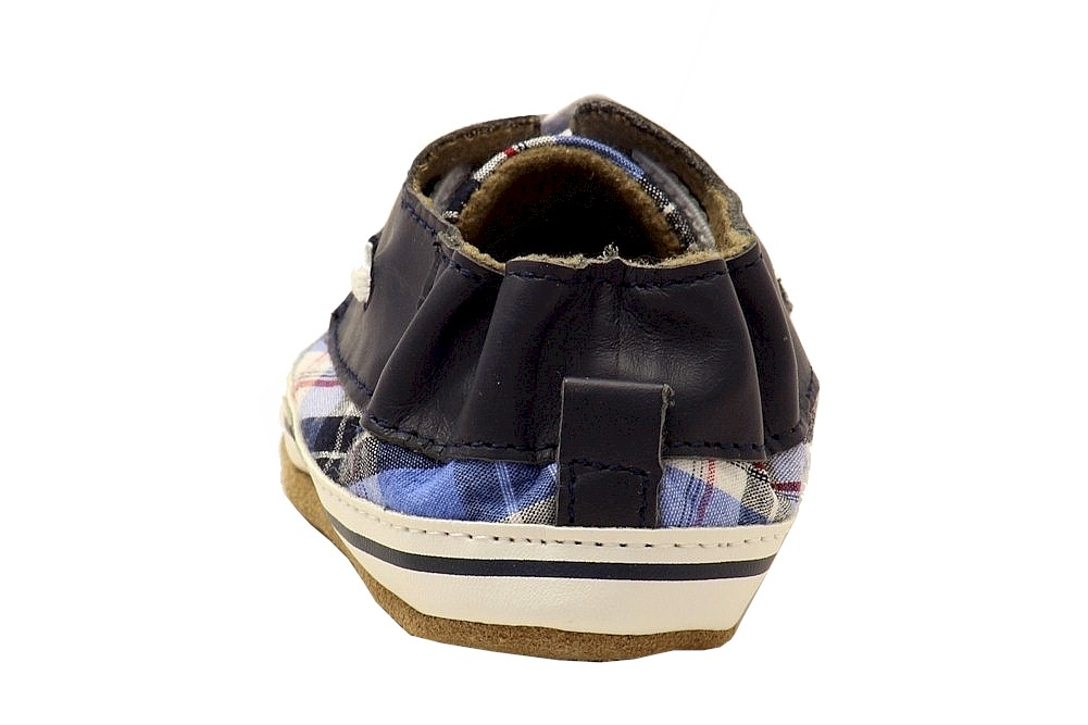 Robeez Mini Shoez Infant Boy/'s Connor Fashion Plaid Multi Canvas Sneakers Shoes