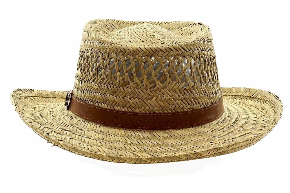 Natural Dorfman Pacific Hats Rush Straw Gambler Hat