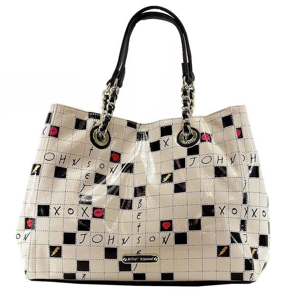 Betsey Johnson Women S Kitchi Crossword Tote Handbag