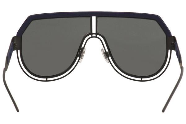 Sunglasses 1106//96 Dolce /& Gabbana LOGO DG 2231 Matte Black Blue//Blue Mirrored