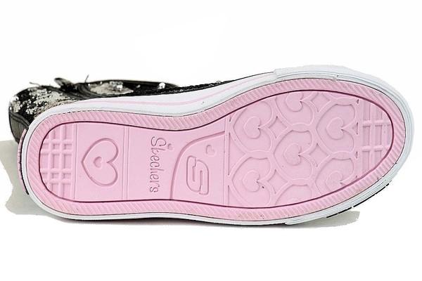 Skechers Twinkle Toes Bizzy Bunch Girls' High Top Sneakers