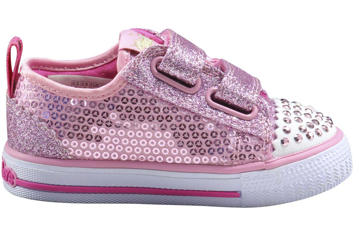 Skechers ToddlerLittle Girl's Twinkle Toes Itsy Bitsy Light Up Sneakers Shoes