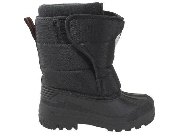 Polo Ralph Lauren Little//Big Boy/'s Hamilten-II-EZ Black//Grey Winter Boots Shoes