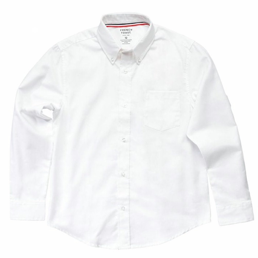 French Toast School Uniform Boys Long Sleeve Crewneck T-Shirt