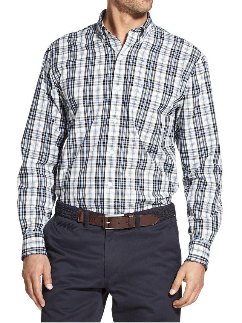 Izod Men/'s Essential Stretch Long Sleeve Cotton Button Down Shirt