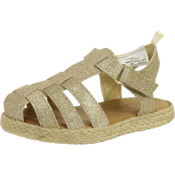 OshKosh BGosh Girls Ashby Glitter Fisherman Sandal Gold//Metallic,