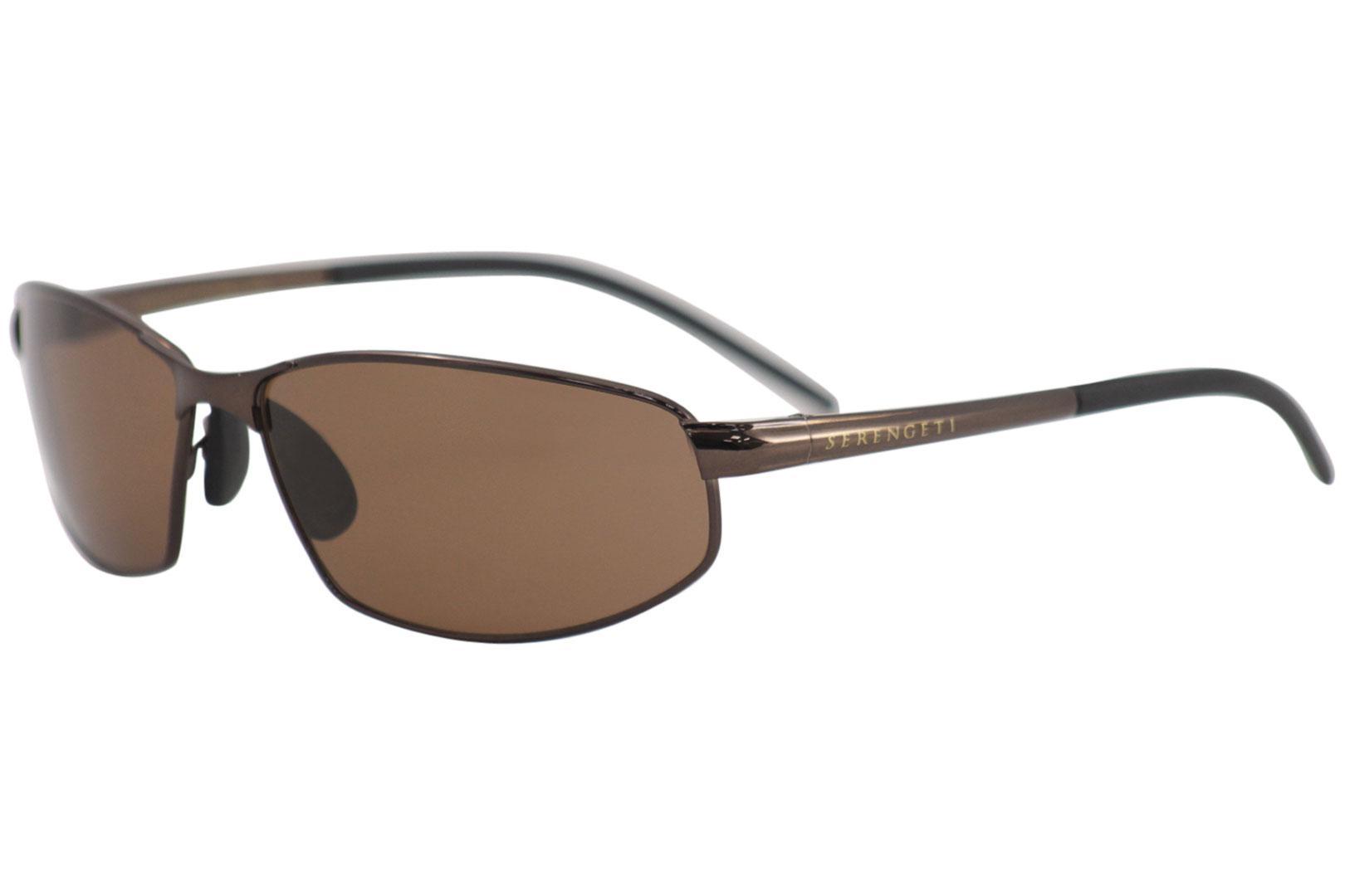 2292dc2eb06e Serengeti Men's Granada 7300 Espresso/Brown Lens Polarized Wrap Metal  Sunglasses by Serengeti