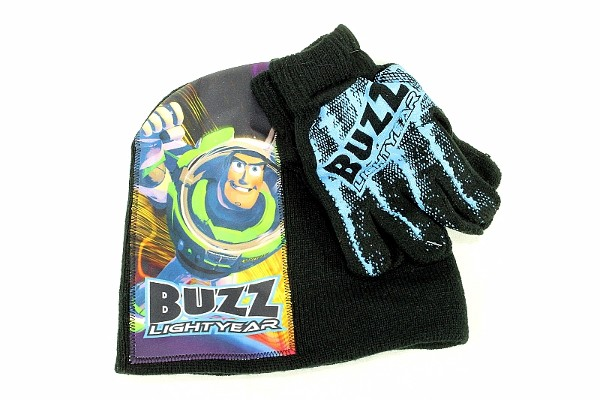 Youth Disney Toy Story Buzz Red Hat Mittens Gloves