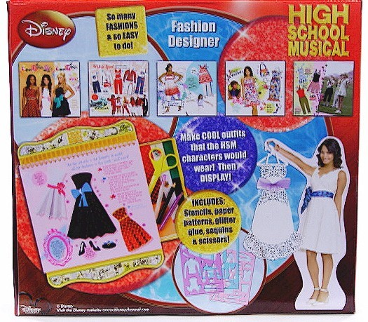 High School Musical Fashion Designer Set Craft Toy Taylor Gabriella Sharpay Look
