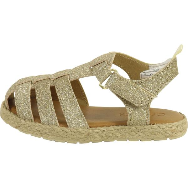 Gold//Metallic, OshKosh BGosh Girls Ashby Glitter Fisherman Sandal