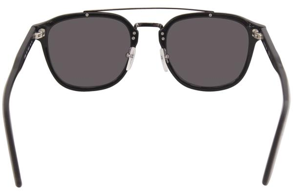 BLACK 52 mm Lacoste Mens L885s Square Sunglasses
