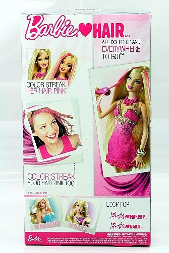 Barbie Loves Hair Fashion Gift set Doll Accessories Girl Toy R6598 NEW
