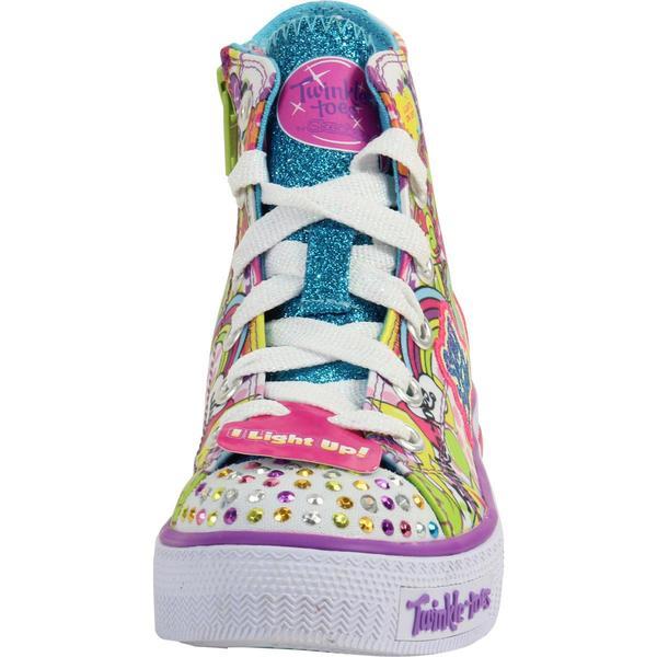 Skechers LittleBig Girl's Twinkle Toes Shuffles Trendy Talk