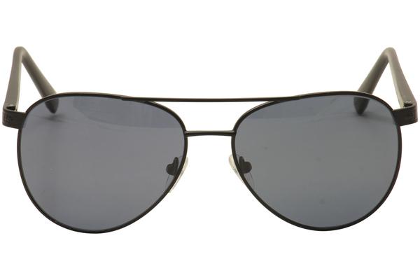Vuarnet VL 1505 0001 Matt Black with Grey blue polarised lenses