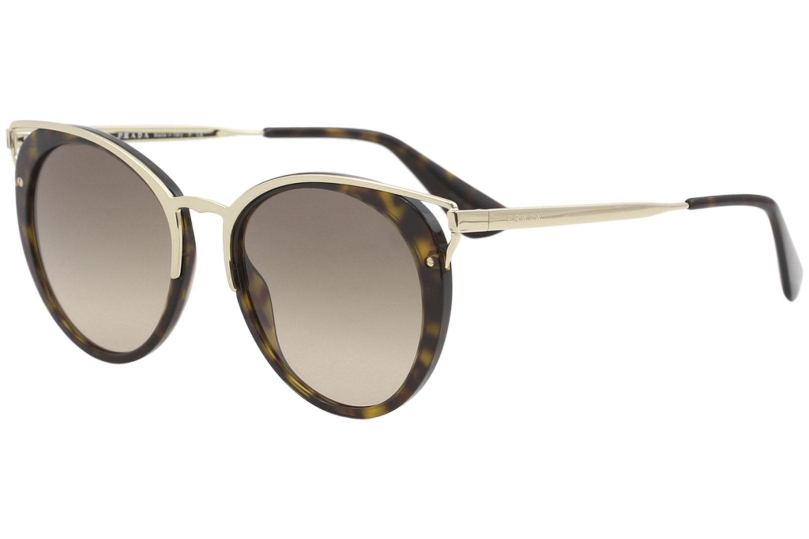 cdbc006f6f Prada Women s SPR66T SPR 66T Fashion Round Sunglasses