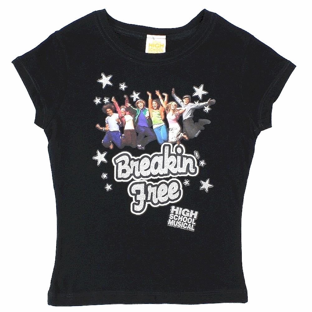 Image of Disney's High School Musical Girl's Breakin' Free Short Sleeve T Shirt - White - Extra Small