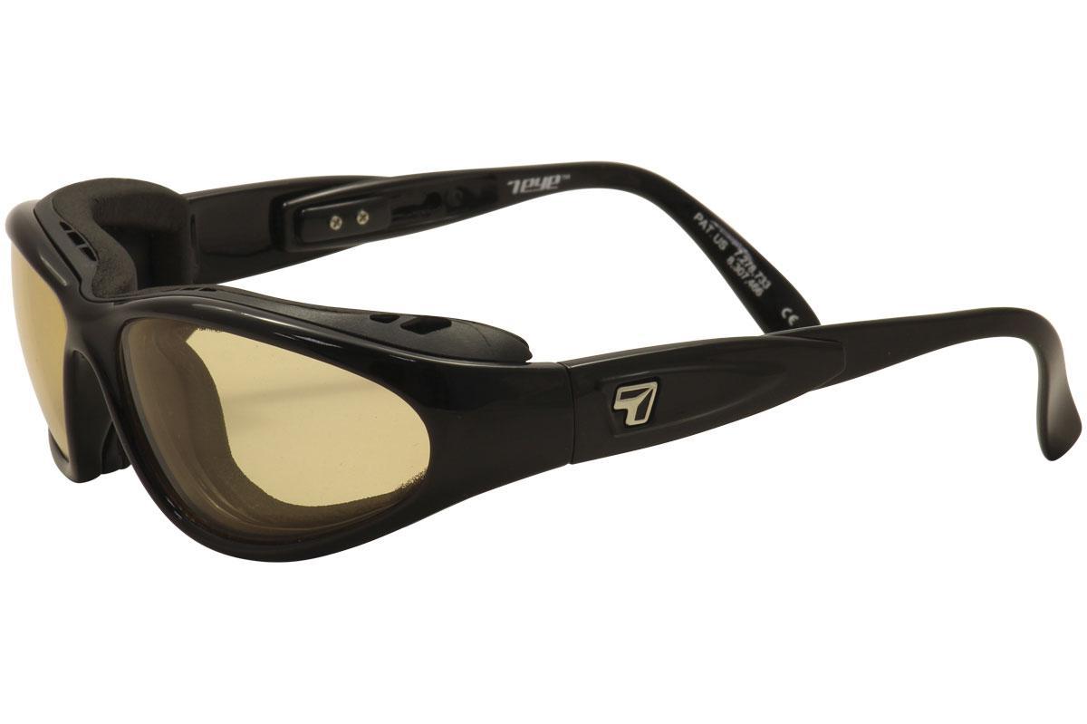 Image of 7Eye Men's Airshield Cape Wrap Sport Sunglasses - Black - Small Large