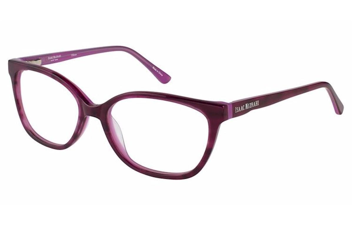 Image of Isaac Mizrahi Women's Eyeglasses IM30014 IM/30014 Full Rim Optical Frame - Purple - Lens 53 Bridge 16 Temple 135mm