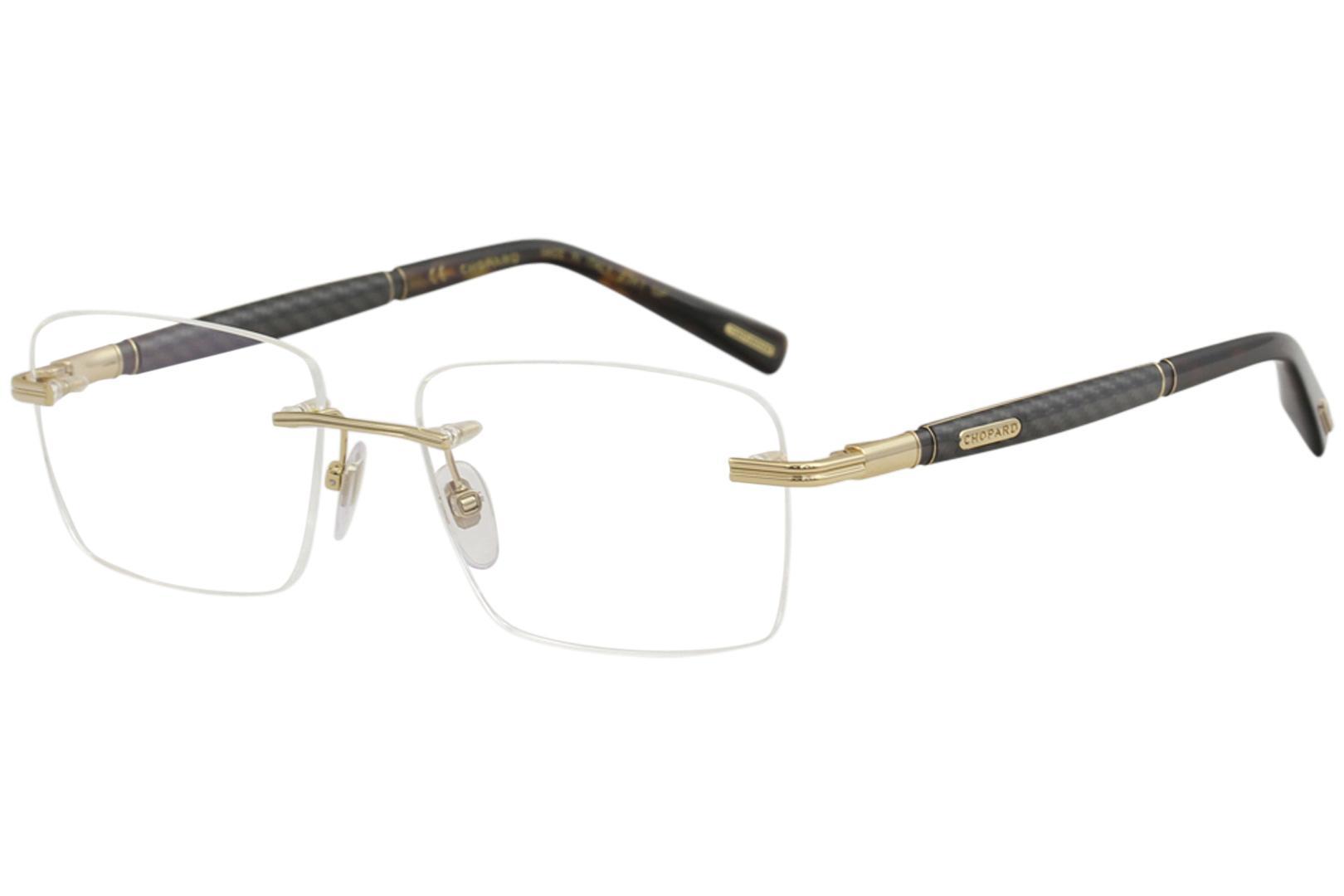 Chopard Eyeglasses VCHC37 VCHC/37 23K Gold/Havana Rimless Optical Frame 56mm