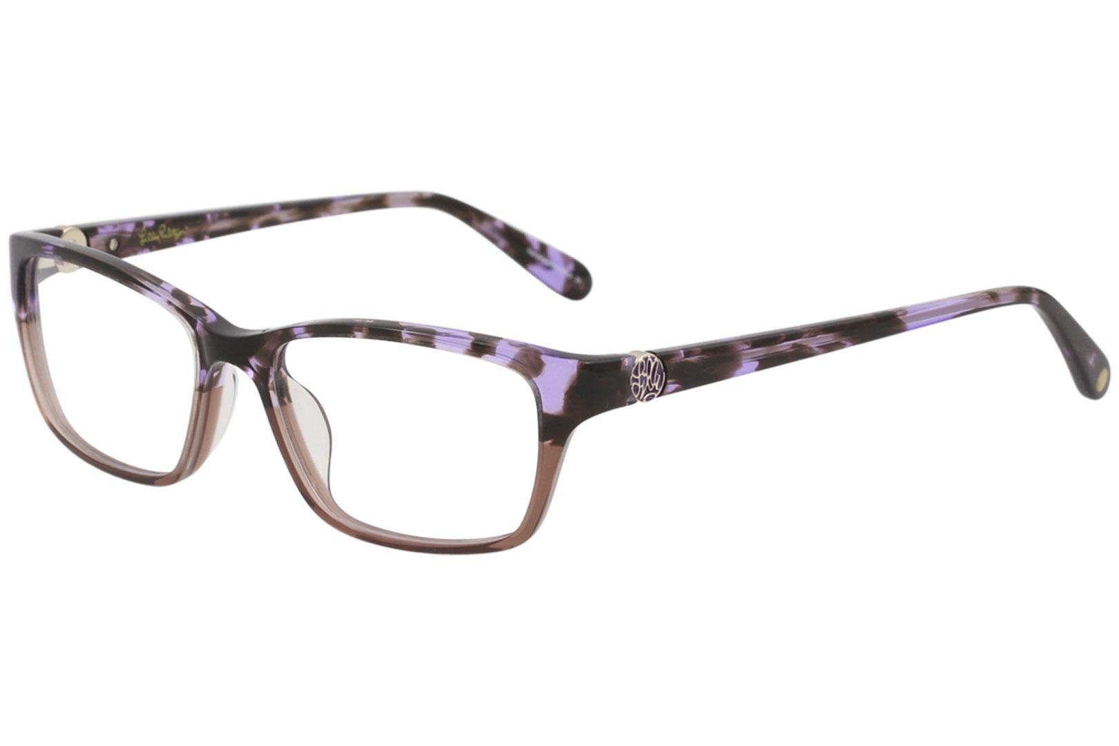 Image of Lilly Pulitzer Women's Eyeglasses Amberly Full Rim Optical Frame - Purple Tortoise   PU - Lens 51 Bridge 16 Temple 135mm
