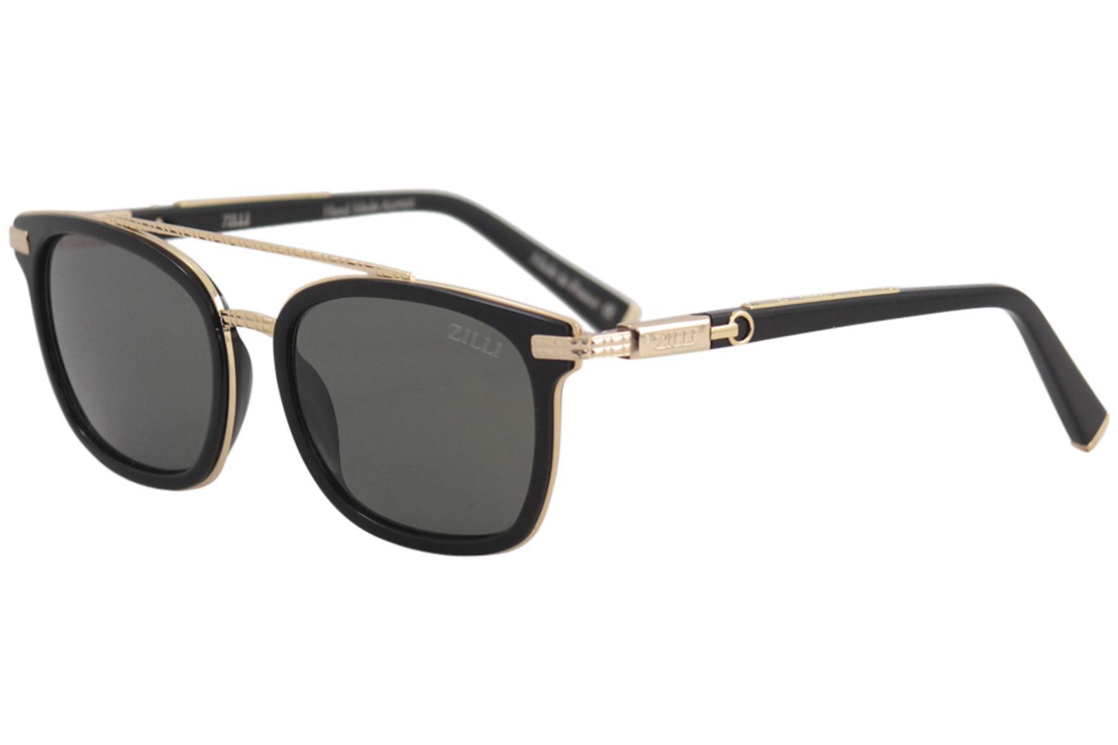 55e4b5917c7 Zilli Men s ZI65014 ZI 65014 Fashion Pilot Polarized Sunglasses