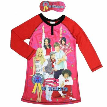 Disney High School Musical 3 Girl's Pink Sleepwear W/ Face Mask  UPC: