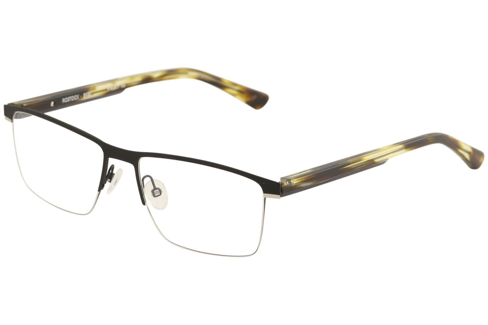 Image of Etnia Barcelona Men's Eyeglasses Rostock Full Rim Optical Frame - Black/Silver   BKSL - Lens 56 Bridge 17 Temple 145mm