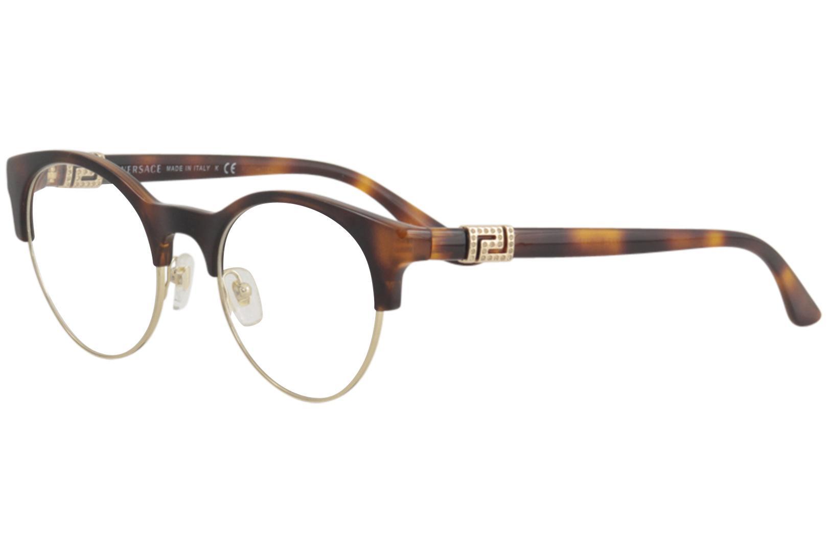 1ef12e22eb Versace Women s Eyeglasses VE 3233 B 3233B Full Rim Optical Frame
