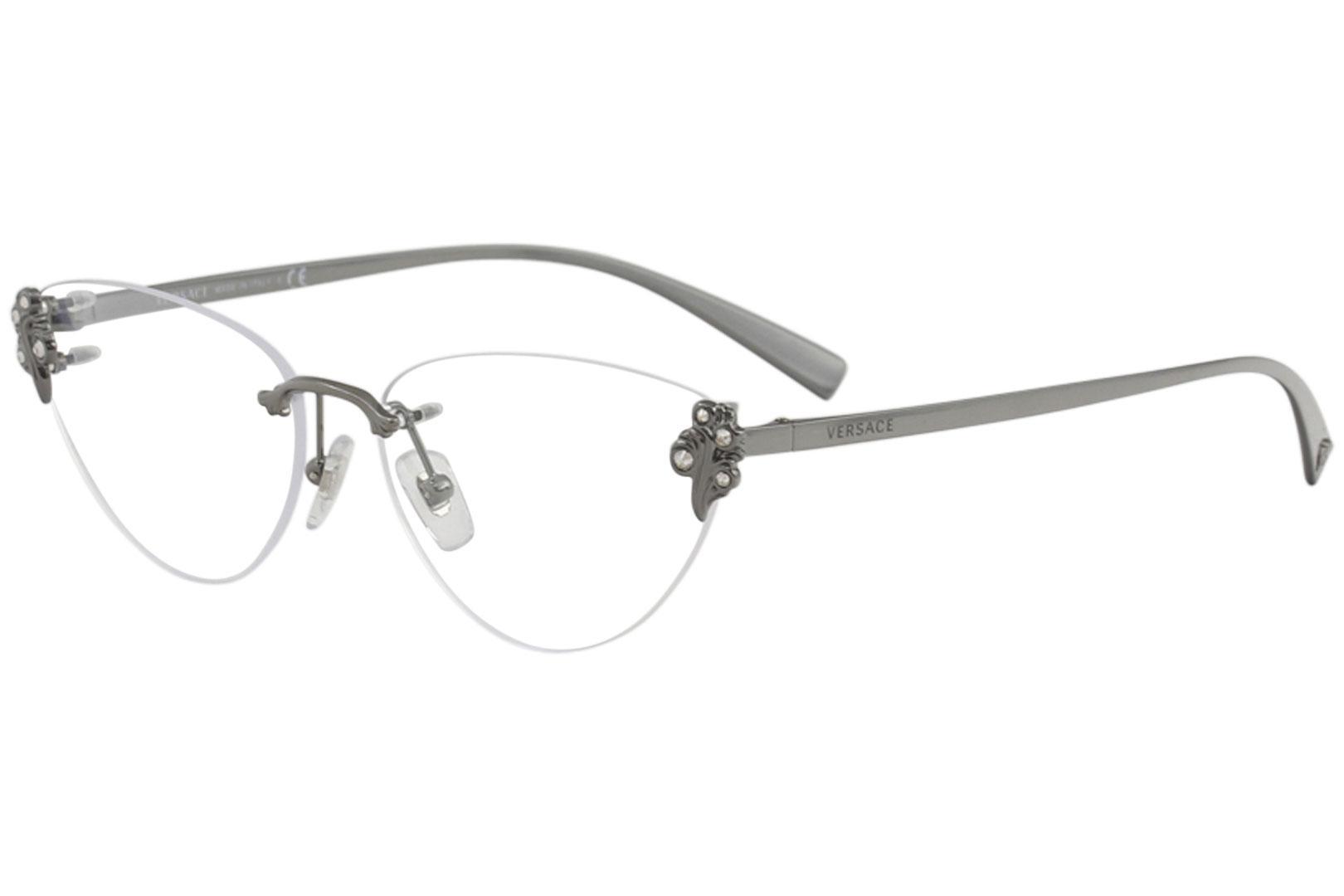 49653b550293 Versace Women's Eyeglasses VE1254B VE/1254/B Rimless Optical Frame