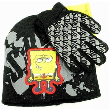 Spongebob Squarepants Boy's Knit Beanie Hat & Glove Set Sz. 4-7  UPC: