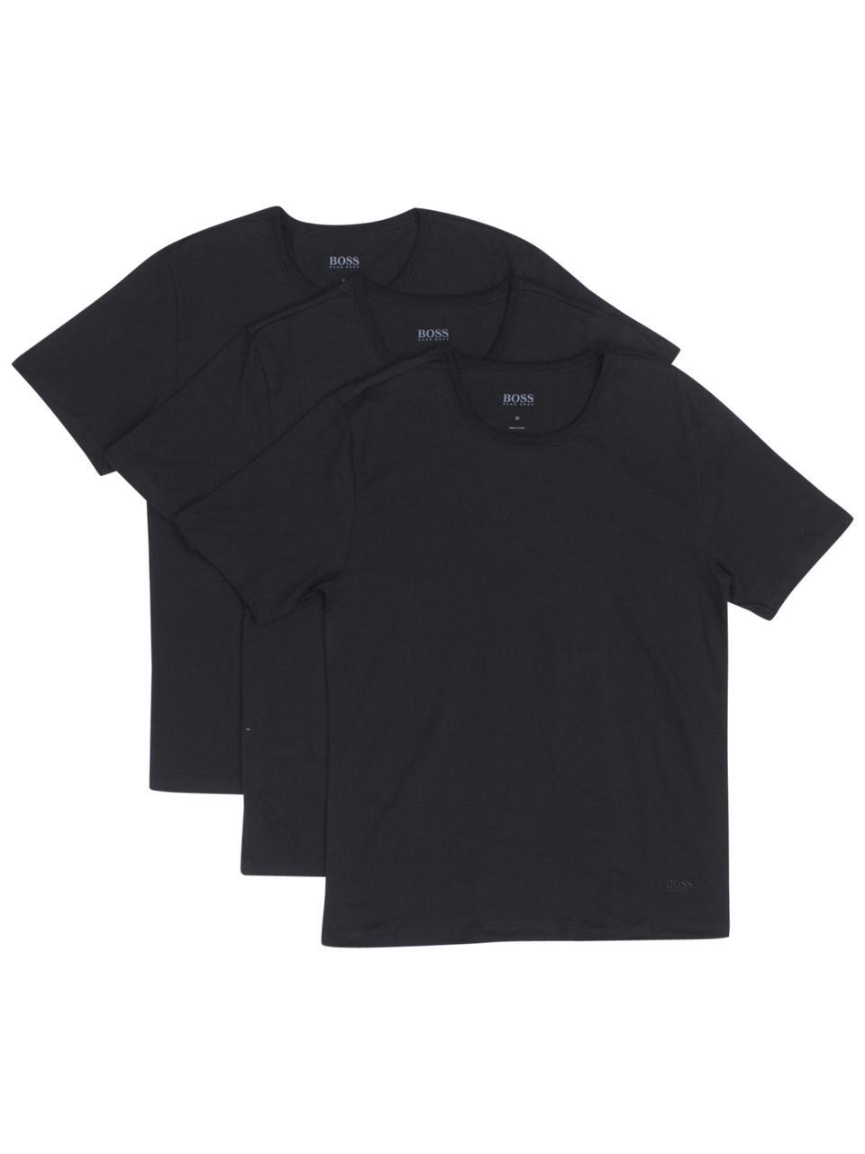 5ac0707ce Hugo Boss Men's 3-Pc Short Sleeve Crew Neck Cotton Jersey T-Shirt by Hugo  Boss