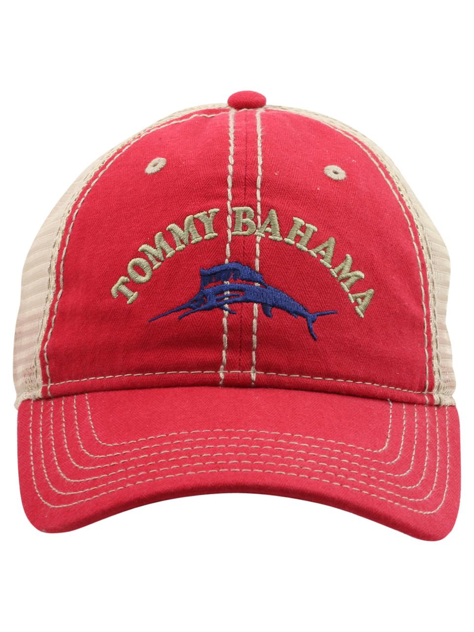 8a51edc0535f1 Tommy Bahama Men s Strapback Trucker Cap Hat by Tommy Bahama. Touch to zoom