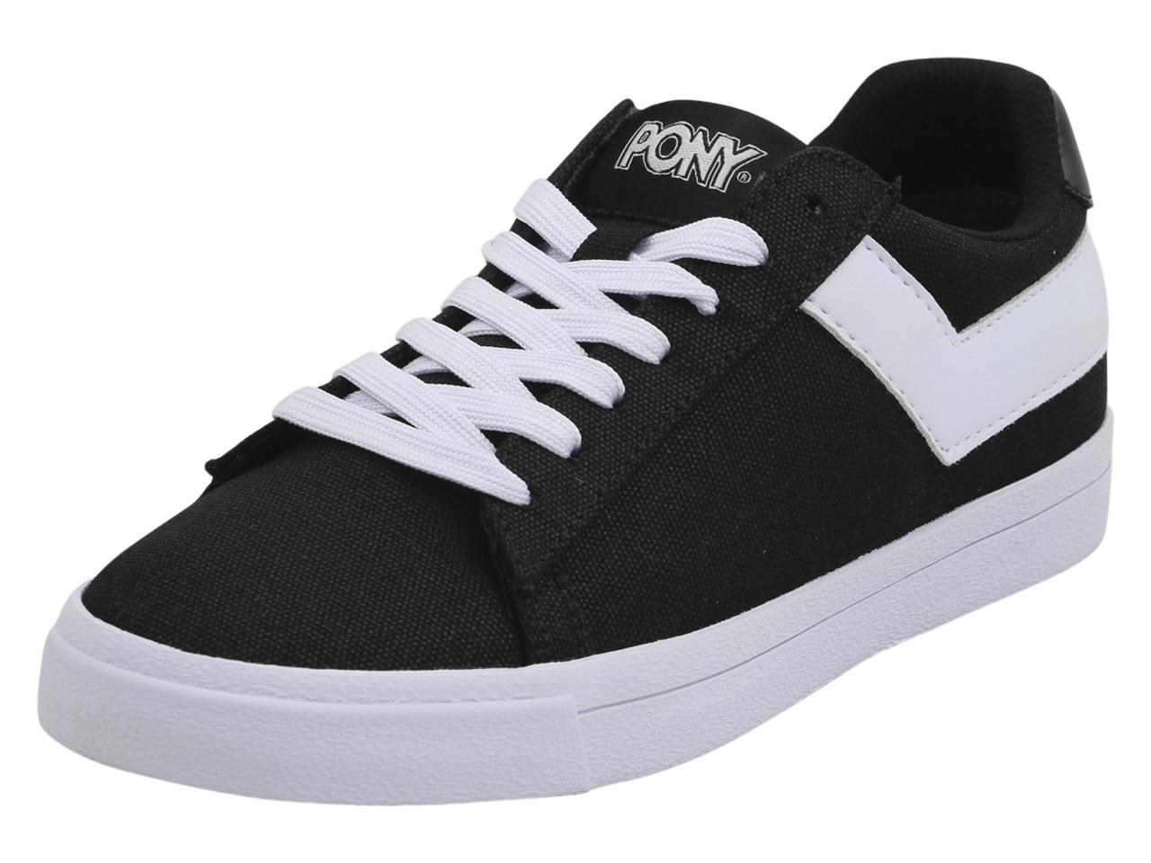 Image of Pony Women's Top Star Lo Core Canvas Sneakers Shoes - Black - 6 B(M) US