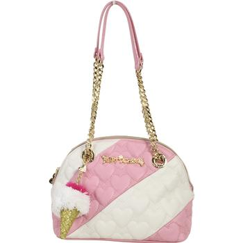 Betsey Johnson Women's Split Decision Quilted Heart Dome Satchel Handbag UPC: