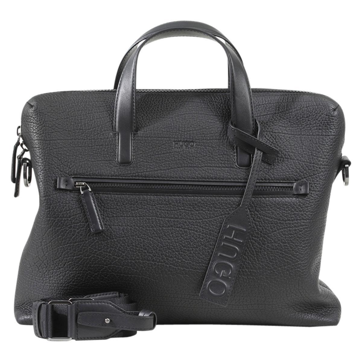 Hugo Boss Men's Victorian-S Genuine Leather Document Briefcase