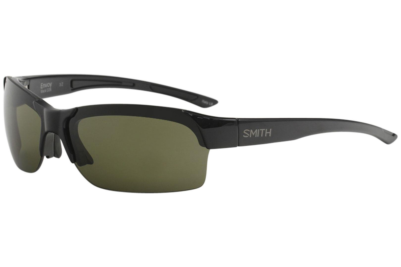 Image of Smith Optics Envoy Fashion Rectangle Sunglasses - Black - Lens 66 Bridge 16 Temple 115mm