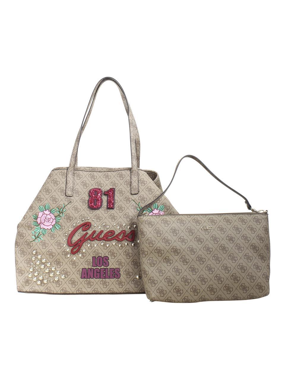 Guess Women's Vikky Large Tote Handbag Set