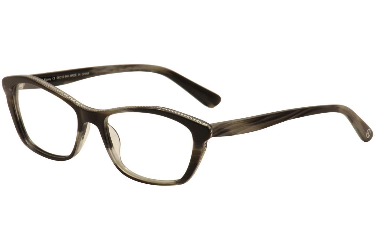 Image of JL By Judith Leiber Women's Eyeglasses JL3017 JL/3017 Full Rim Optical Frame - Black - Lens 54 Bridge 16 Temple 140mm